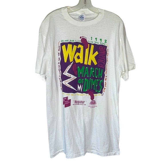Vintage 1992 March of Dimes T-Shirt White